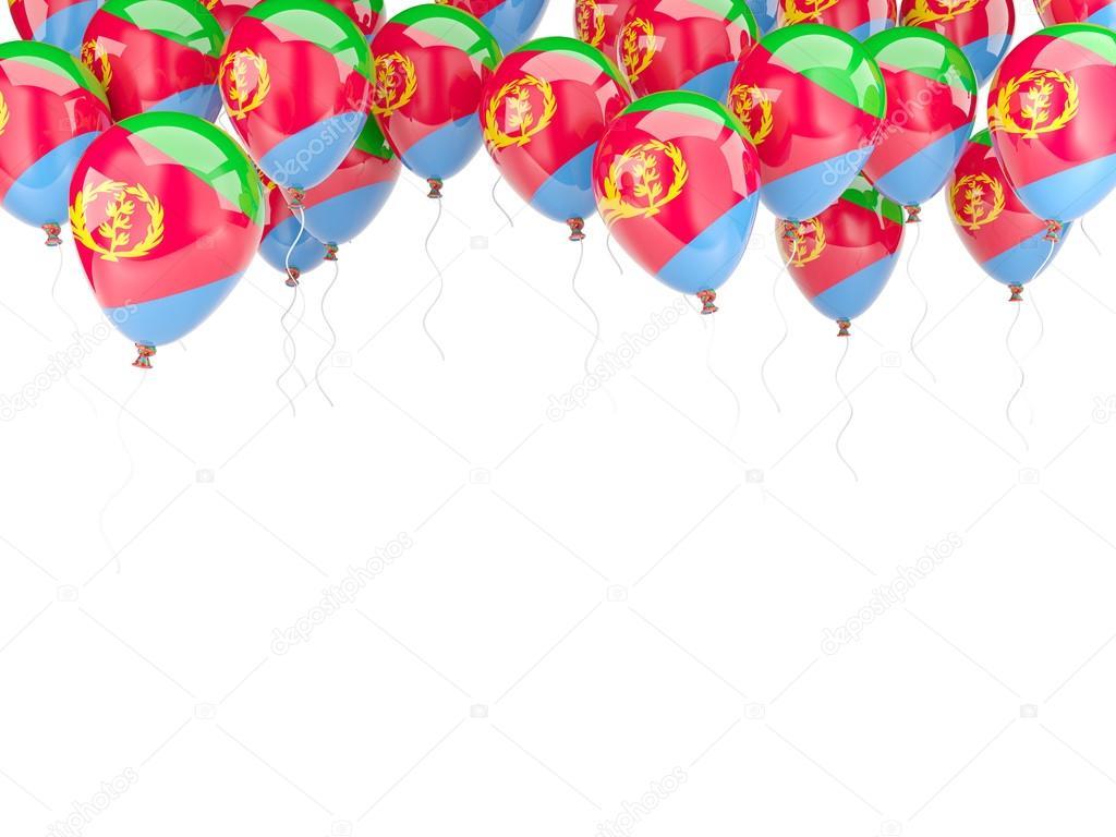 Ballon-Rahmen mit Flagge von eritrea — Stockfoto © Mishchenko #58044965
