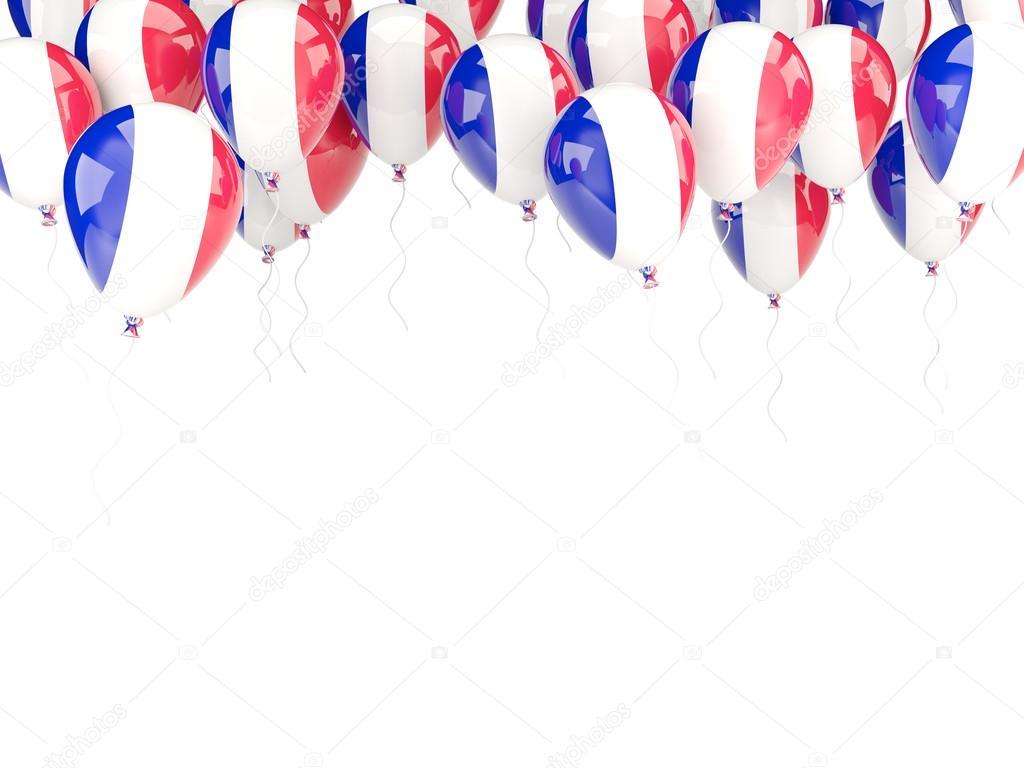 Ballon-Rahmen mit Flagge Frankreich — Stockfoto © Mishchenko #58045925
