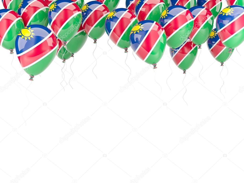 Ballon-Rahmen mit Flagge von namibia — Stockfoto © Mishchenko #58069863