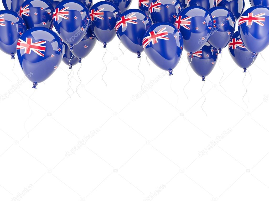 Ballon-Rahmen mit Flagge Neuseelands — Stockfoto © Mishchenko #58072515