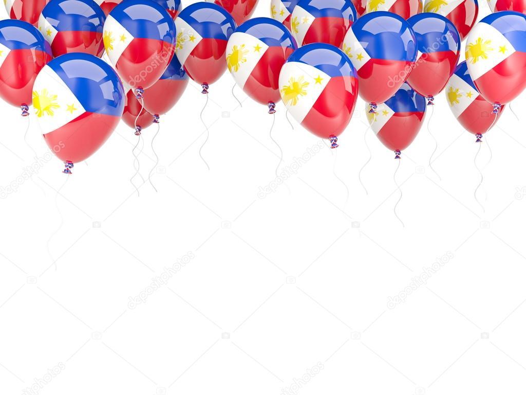 Ballon-Rahmen mit Flagge Philippinen — Stockfoto © Mishchenko #58079535
