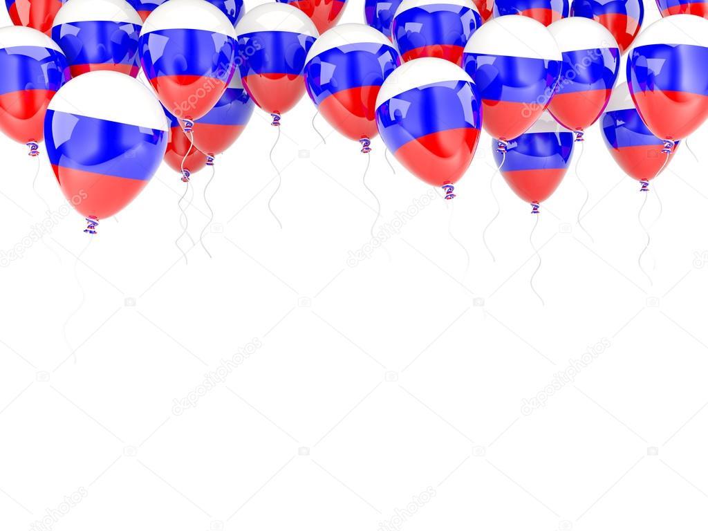 Ballon-Rahmen mit Flagge Russlands — Stockfoto © Mishchenko #58080811