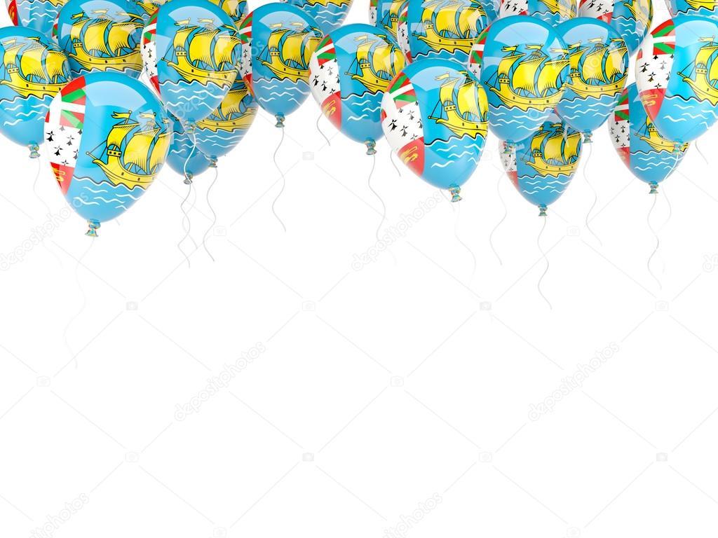Ballon-Rahmen mit Flagge von Saint-Pierre und miquelon — Stockfoto ...
