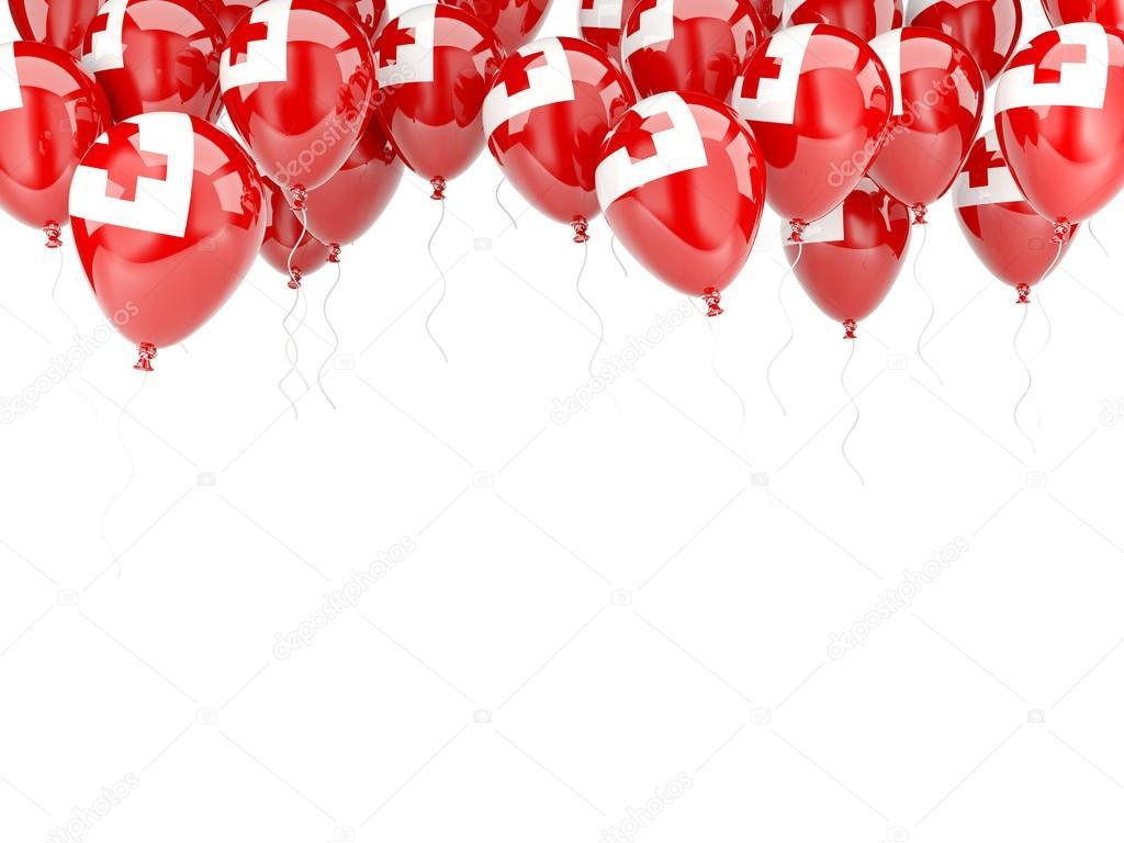 Ballon-Rahmen mit Flagge tonga — Stockfoto © Mishchenko #58085567