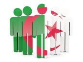 Emberek Algéria zászlaja