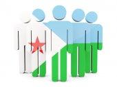 Emberek Dzsibuti zászlaja