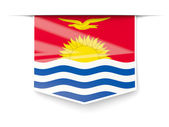 Square label with flag of kiribati