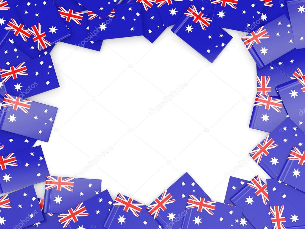 Rahmen mit Flagge Australiens — Stockfoto © Mishchenko #78412622
