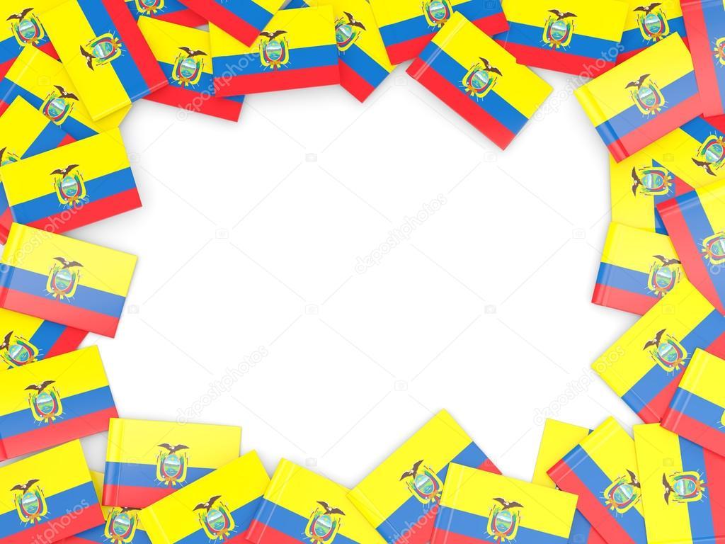 Marco con la bandera de ecuador — Fotos de Stock © Mishchenko #78429458