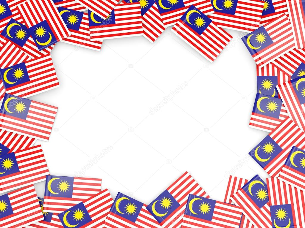 Frame with flag of malaysia — Stock Photo © Mishchenko #78443112