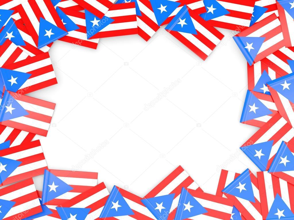 Frame With Flag Of Puerto Rico Stock Photo C Mishchenko 78449598