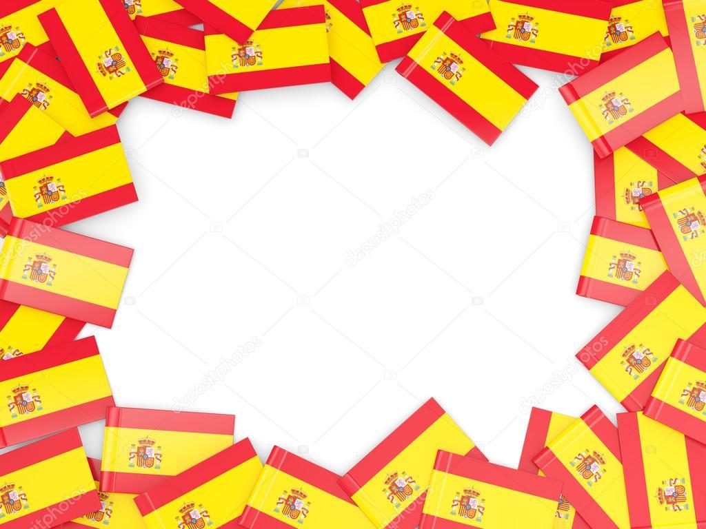 Marco con la bandera de España — Foto de stock © Mishchenko #78455470