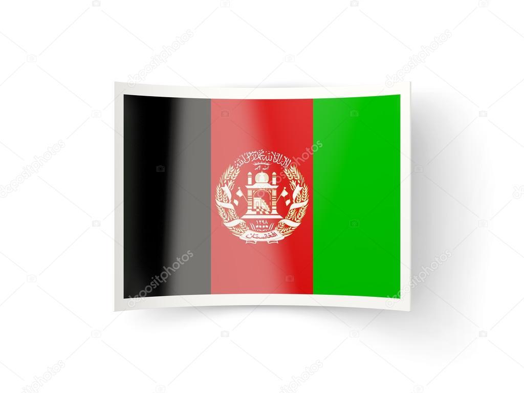 Icono de doblado con la bandera de Afganistán — Foto de stock ...