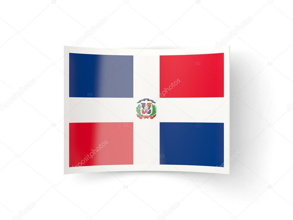 Icono de doblado con la bandera de República Dominicana — Fotos de ...
