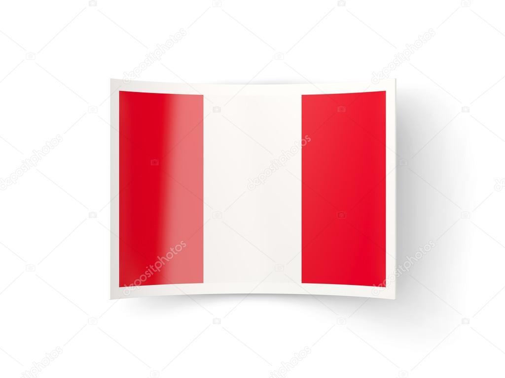 Icono de doblado con la bandera del Perú — Fotos de Stock ...
