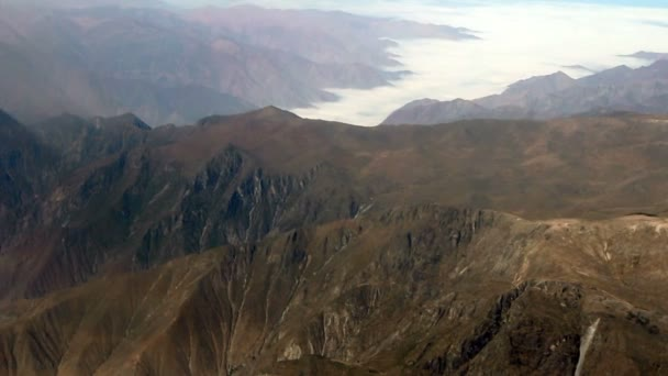 Aerial Mountain And Clouds Over Peru South America