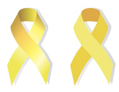 Gold ribbon symbolizing problems