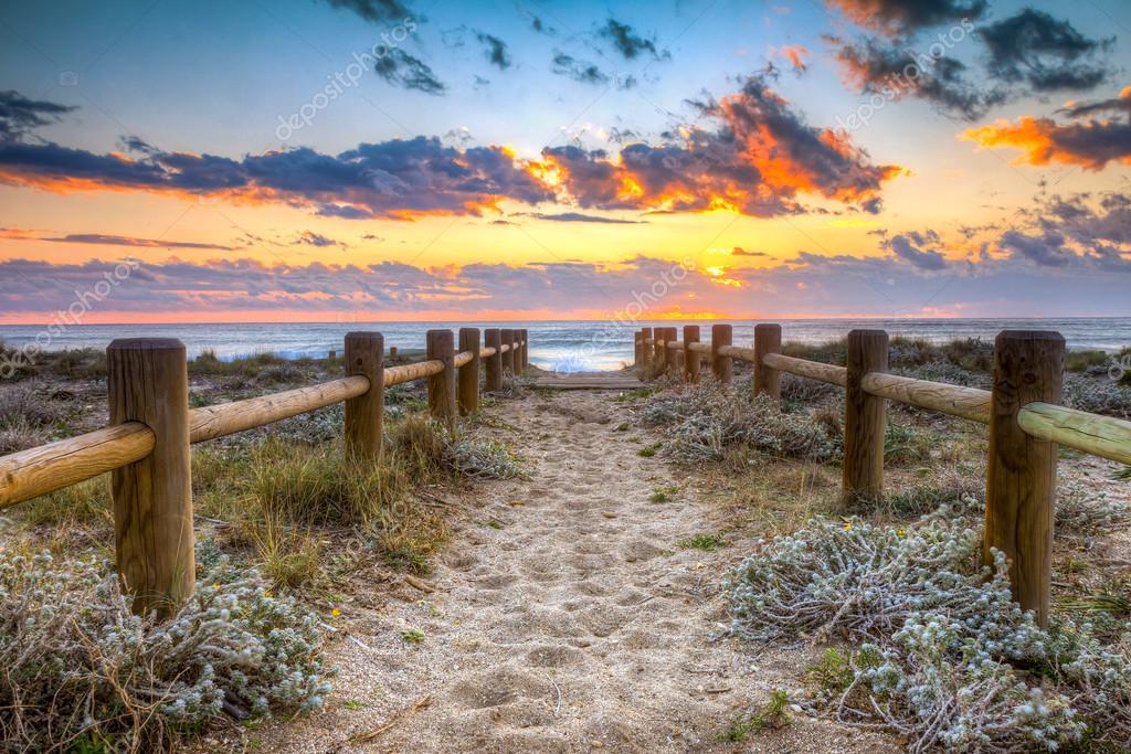 Sunset beach in Gabo de Gata