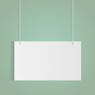 Illustration of a hanging sign isolated on a colorful background. stock vector