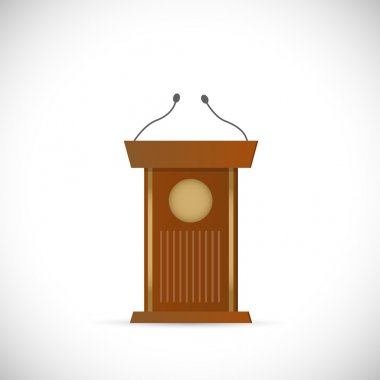 Wooden Podium Illustration