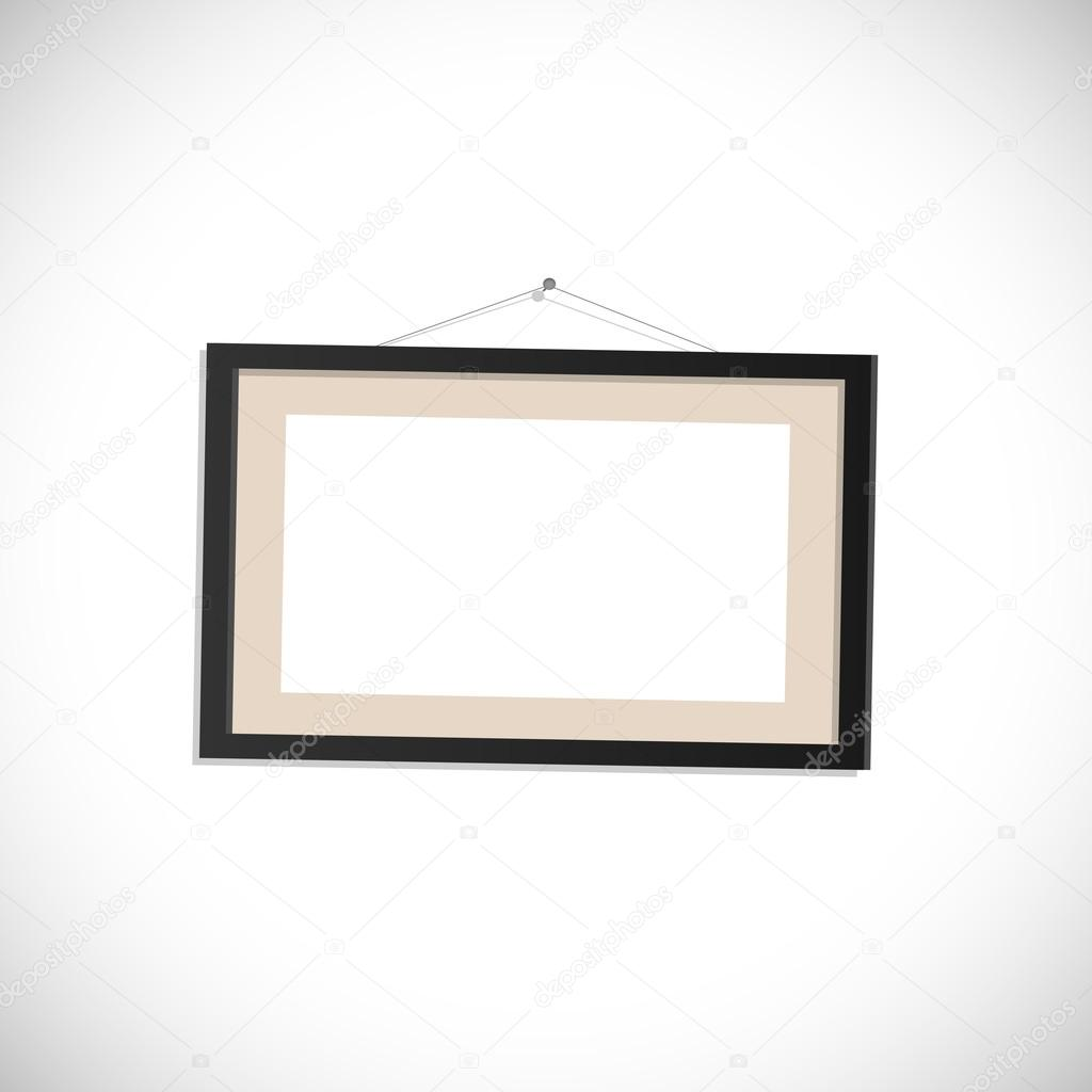 Ilustración de marco de cuadro colgante — Vector de stock ...