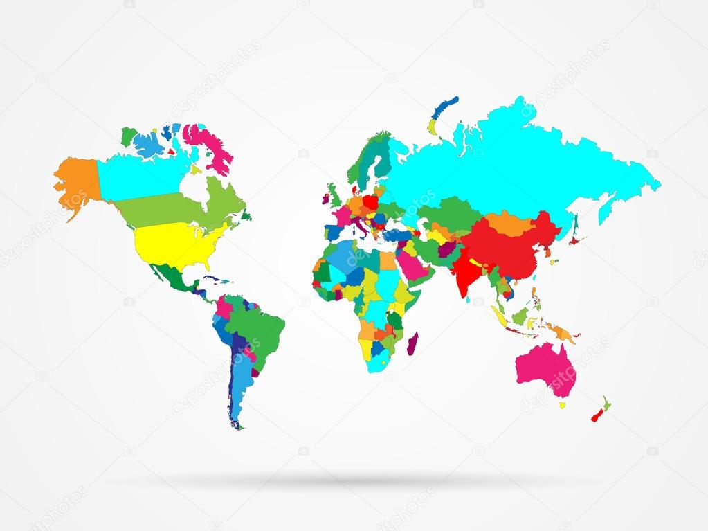 World map colorful stock vector nmarques74 71842219 illustration of a colorful world map isolated on a white background vector by nmarques74 gumiabroncs Gallery