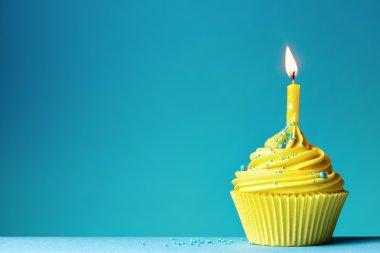 Celebration birthday cupcake
