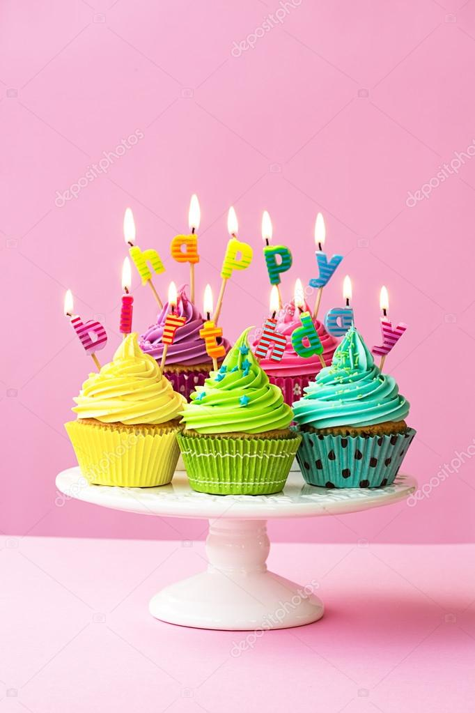 Happy Birthday Cupcakes Stock Photo Ruthblack 63683791