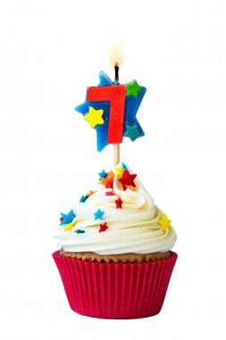 Number seven cupcake