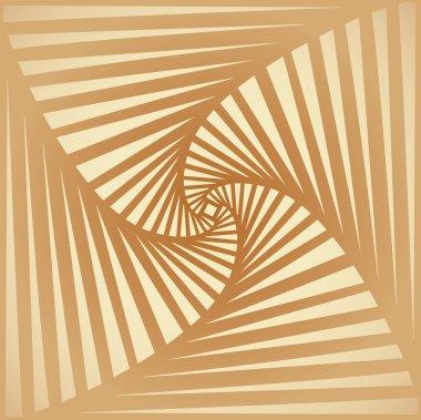 Tileable art quadrangle salient shape optical illusion op volumetric trickery form tracery template. Beige and cream tile creative recurring concave zig zag whirlpool torsion fan blades grid backdrop clip art vector