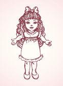 Puppe. Vektorgrafik