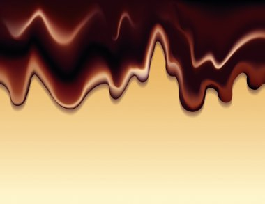 Vector background with flowing hot chocolate