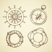 Vektoros illusztráció tengeri hajó ellátás