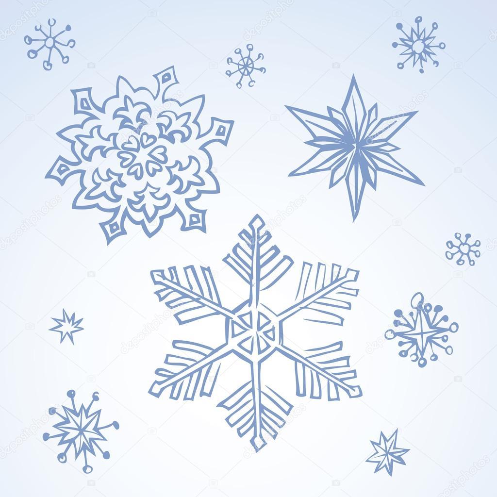 Pencil Drawing Snowflake Sketch Stock Vector 169 Marinka