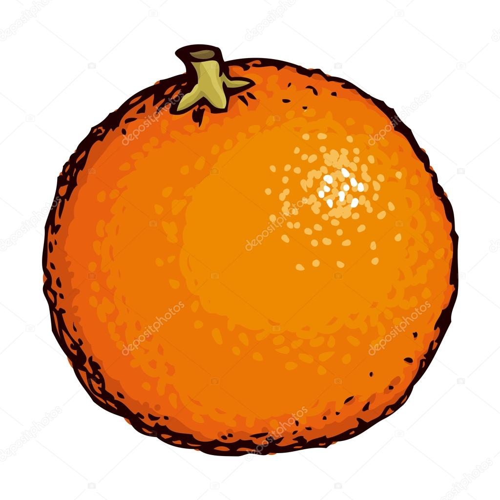 Orange dessin vectoriel image vectorielle marinka - Orange dessin ...