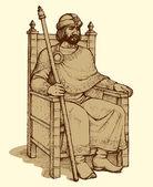 Vektorové kreslení starověkého krále
