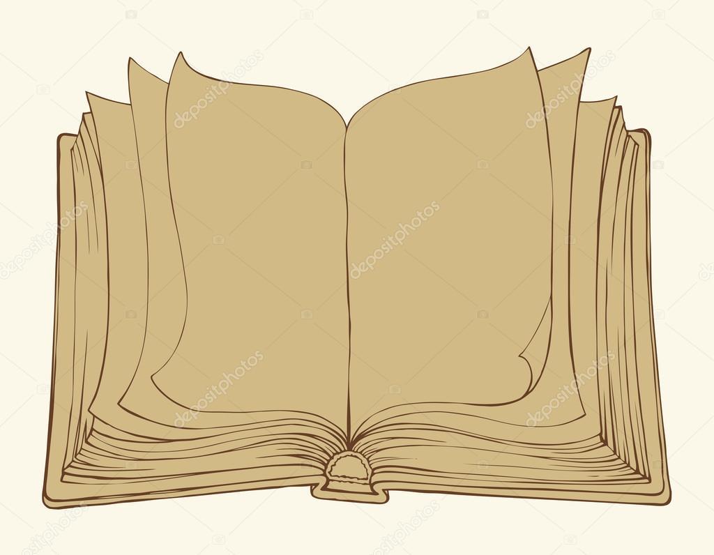 dibujo vectorial libro abierto vector de stock