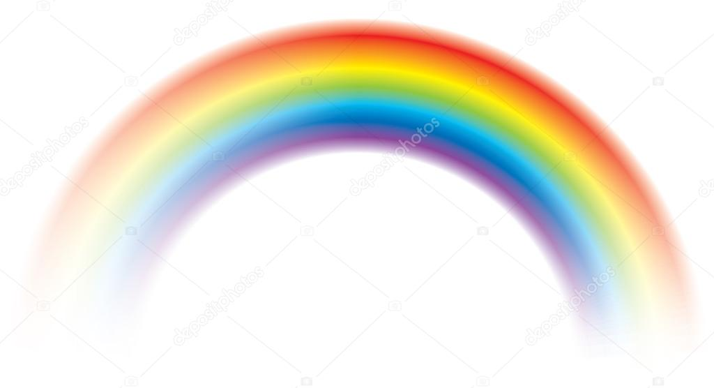 Vivid vector colorful rainbow shining blurred