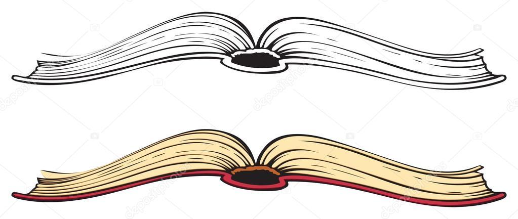 Libro Abierto. Dibujo De Vectores