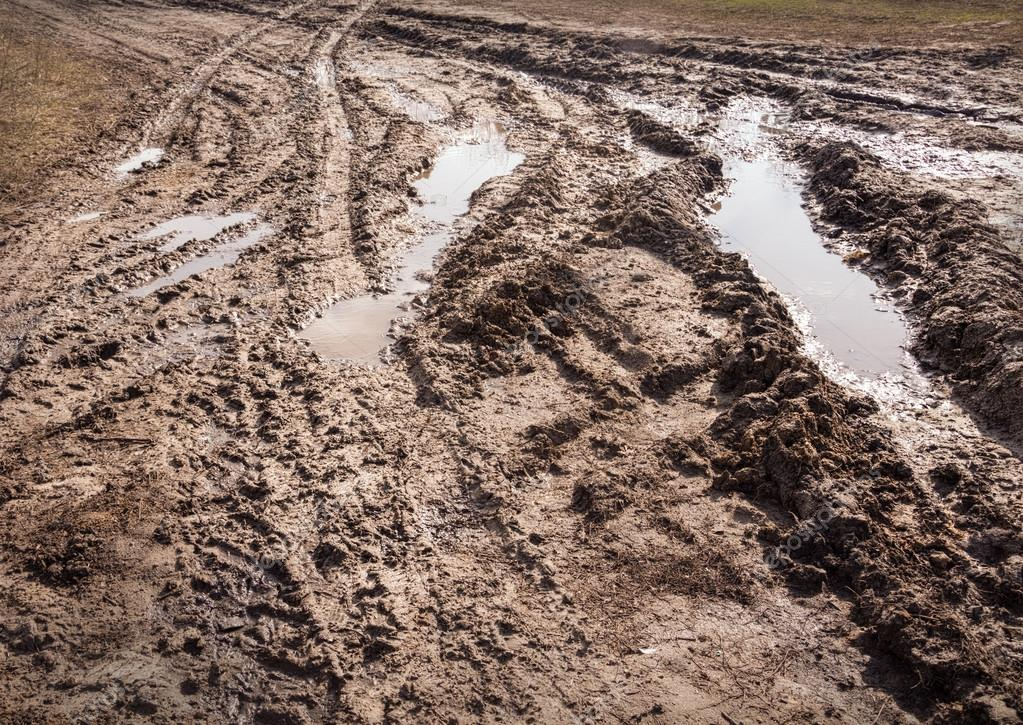 Background tracks from tires on clay off-road — Stock Photo
