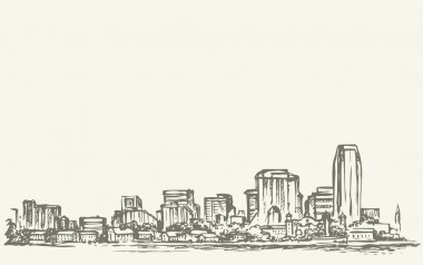 New York City. Vector sketch