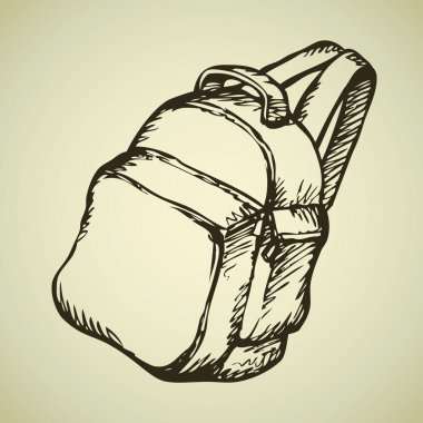 Backpack. Vector drawing