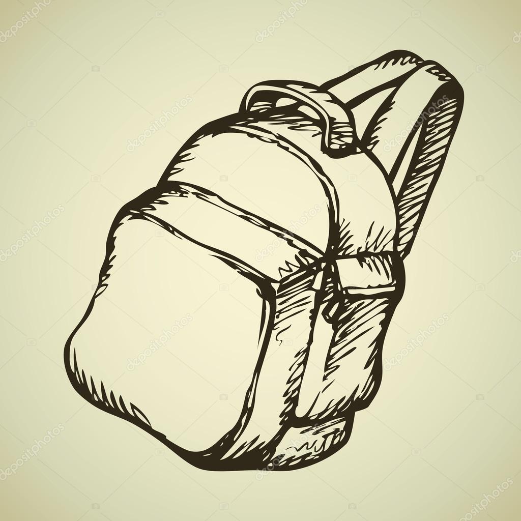 Рисунок туриста с рюкзаком карандашом рюкзак росмэн тачки
