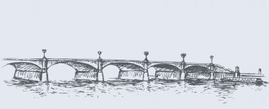 Long Bridge. Vector sketch
