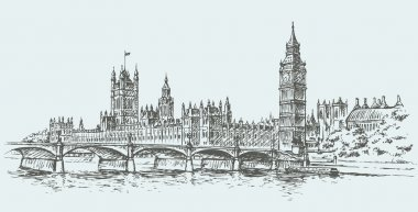 Big Ben. Vector drawing
