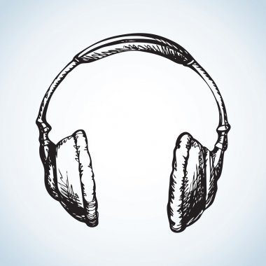 Headphones. Vector drawing