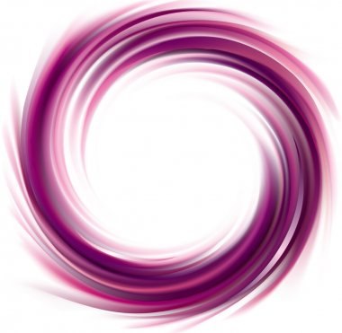 Vector swirling backdrop. Spiral liquid lilac surface