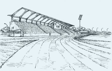 Small Stadium. Vector sketch