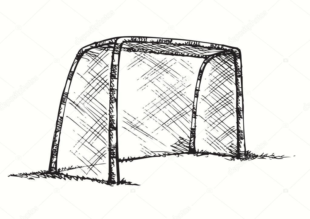 Grand but de football et le basketball dessin vectoriel image vectorielle marinka 75064599 - Comment dessiner un but de foot ...