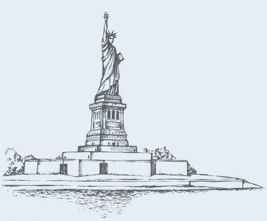 Statue of Liberty. Vector sketch